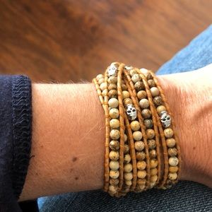 NWT Victoria Emerson multiwrap leather bracelet